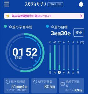スタディサプリENGLIS(英語)TOEIC対策コース連続53日まことブログ