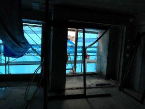 マンション建築現場